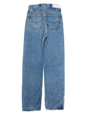 RE/DONE REPURPOSED VINTAGE LEVI'S BUTTON FLY ULTRA HIGH RISE JEANS