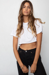 Stillwater Boyfriend Crop Tee- White