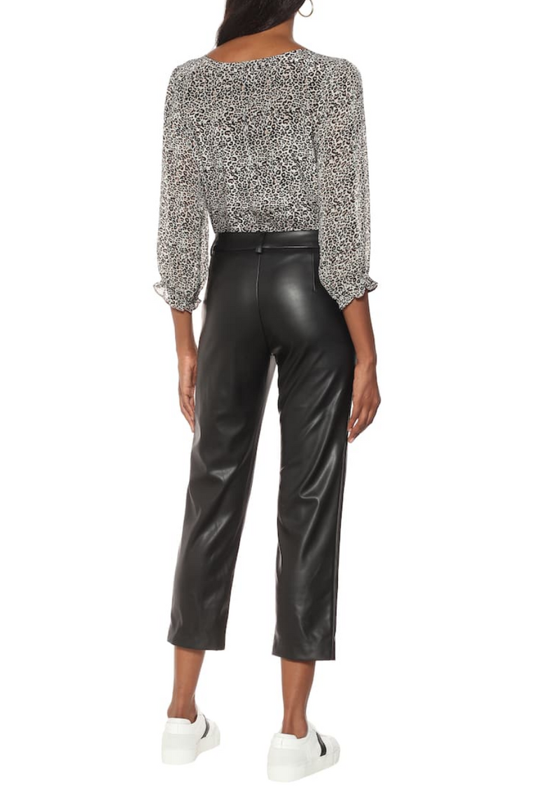 Velvet Hydie Faux Leather Cropped Trouser