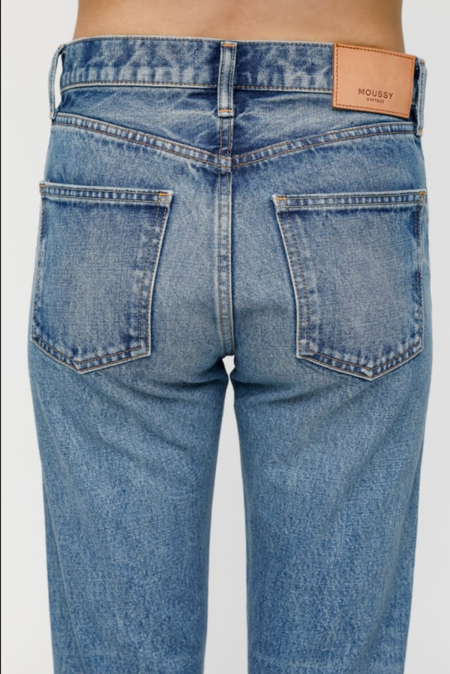 Moussy Vintage Kepner Tapered Hi- Waisted Jeans