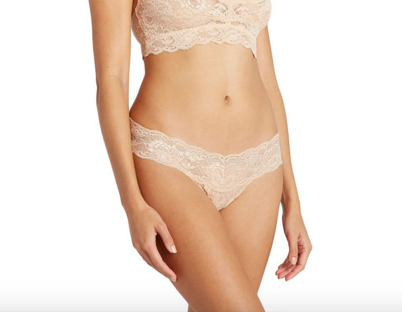 Cosabella Never Say Never Cutie Lace Thong - Blush