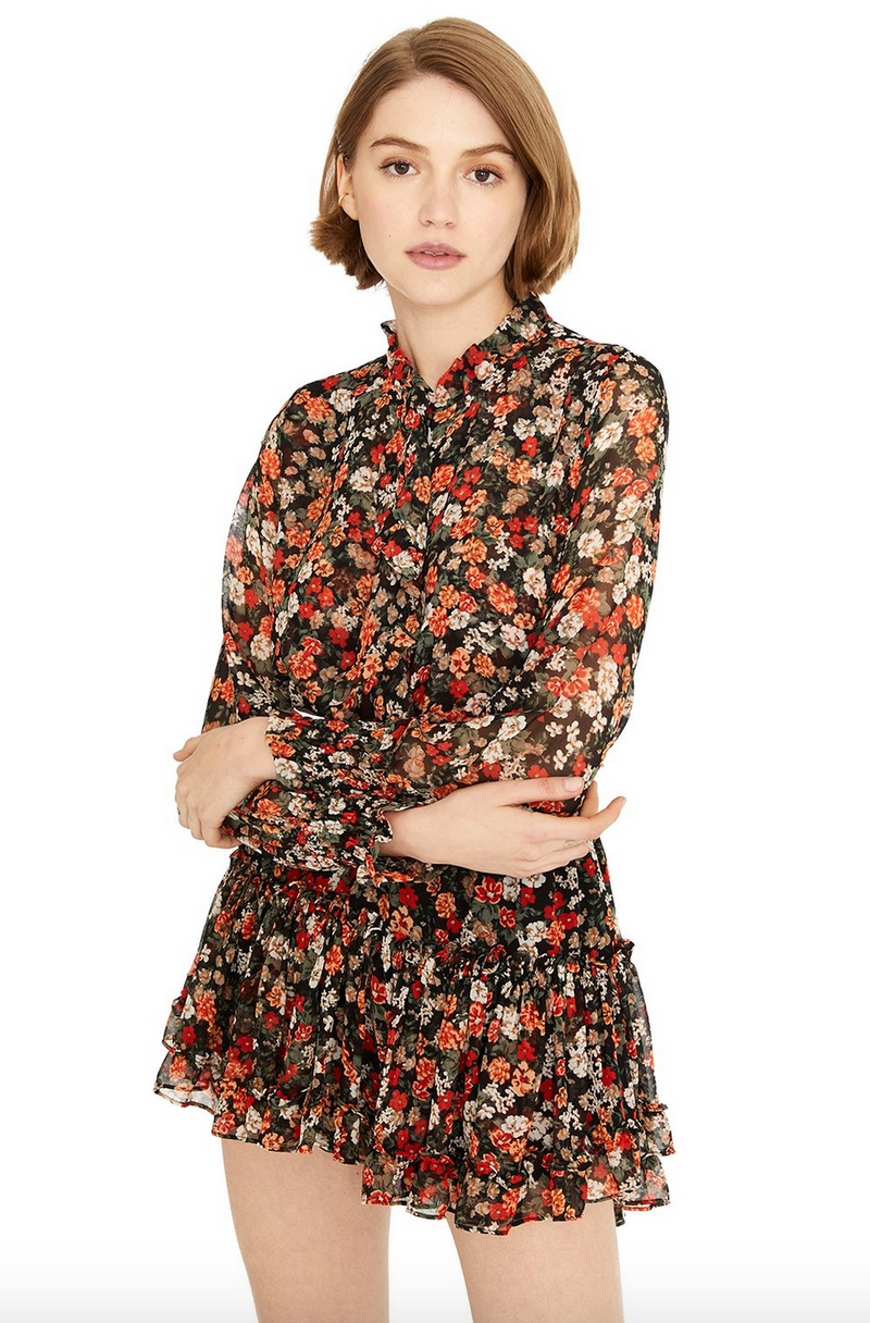 MISA LOS ANGELES JACINDA TOP SAFARI FLORAL
