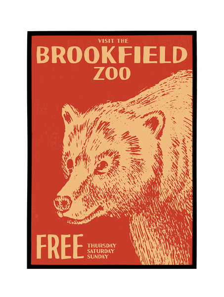 Brookfield Zoo, Chicago Poster