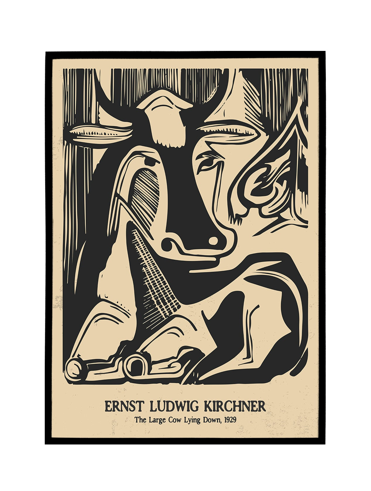 Kirchner, Lying Cow Poster