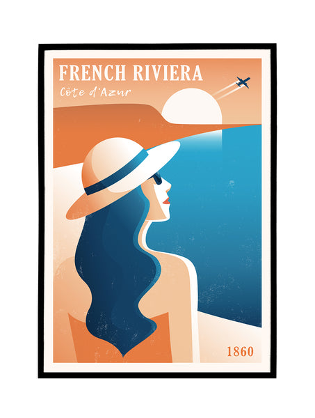 French Riviera 1860 Poster