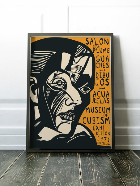 Cubism Exhibition, Barcelona Poster