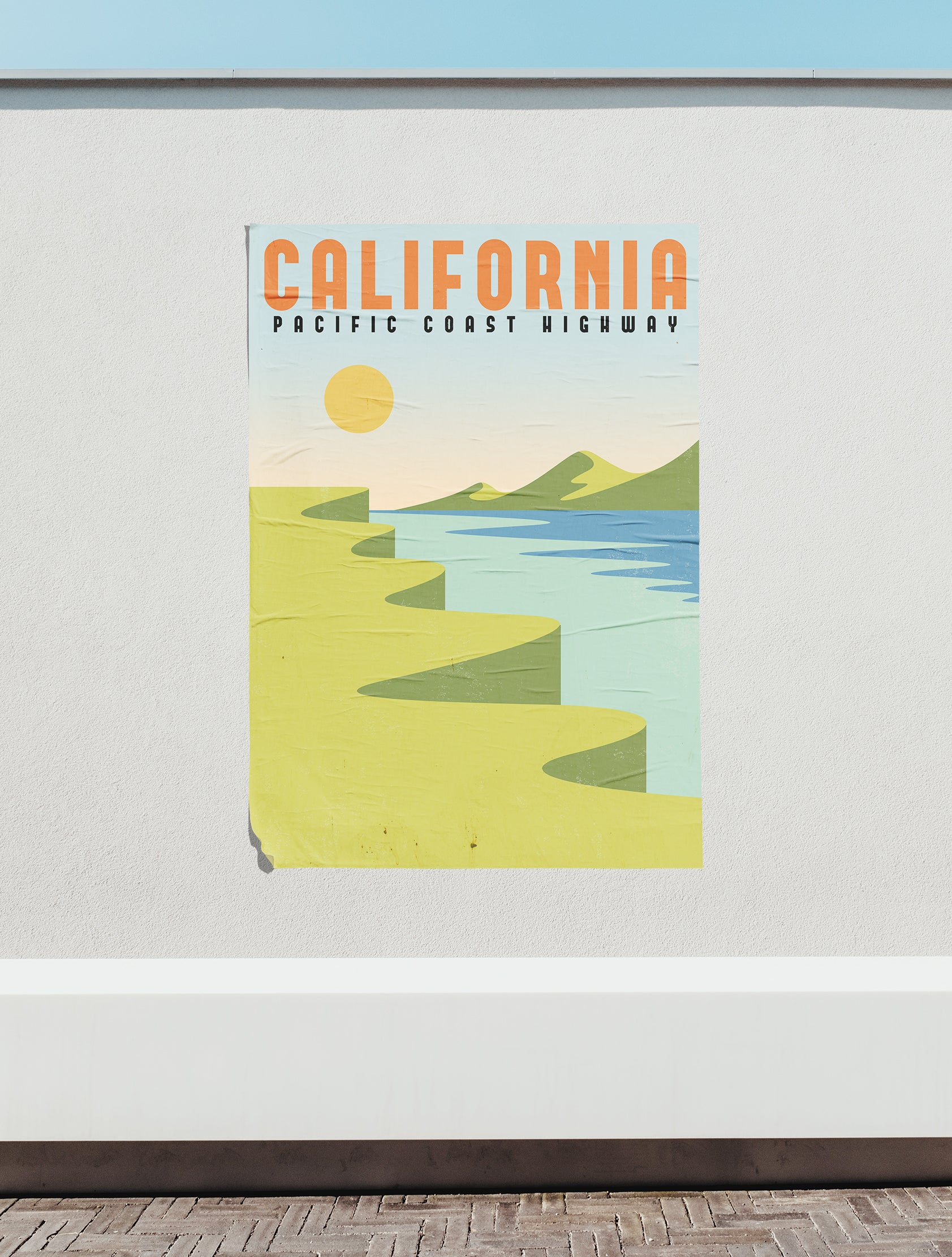 Pacific Coast Highway, California - Poster