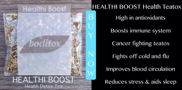 Boditox HEALTHI BOOST Detox Tea. Fight disease. Prevent cancer. Boost immune system. High in antioxidants