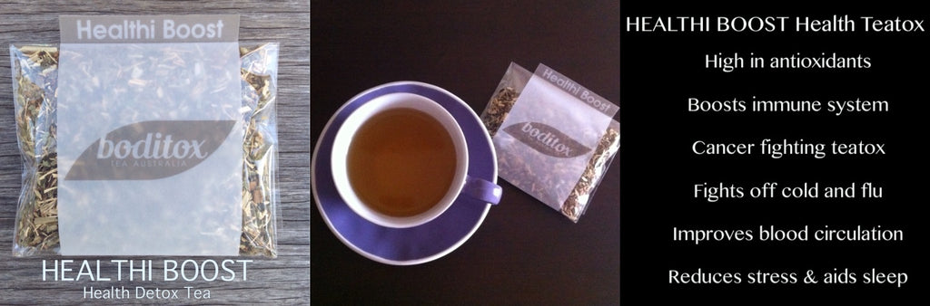 Boditox HEALTHI BOOST Health Teatox. Cleanse your body of toxins and free radicals with this amazing tea!