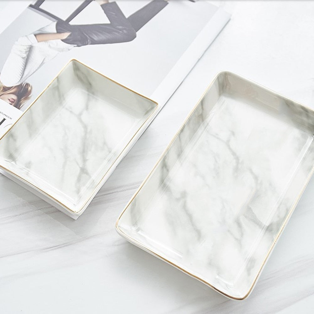 Nordic Ceramic Marble Tray