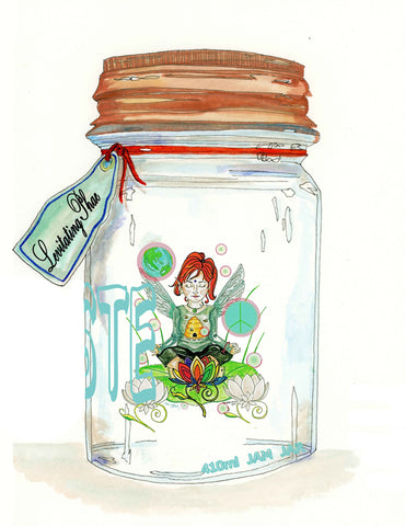 burning bliss project phoenix yoga fairy in a jar meditating and levitating