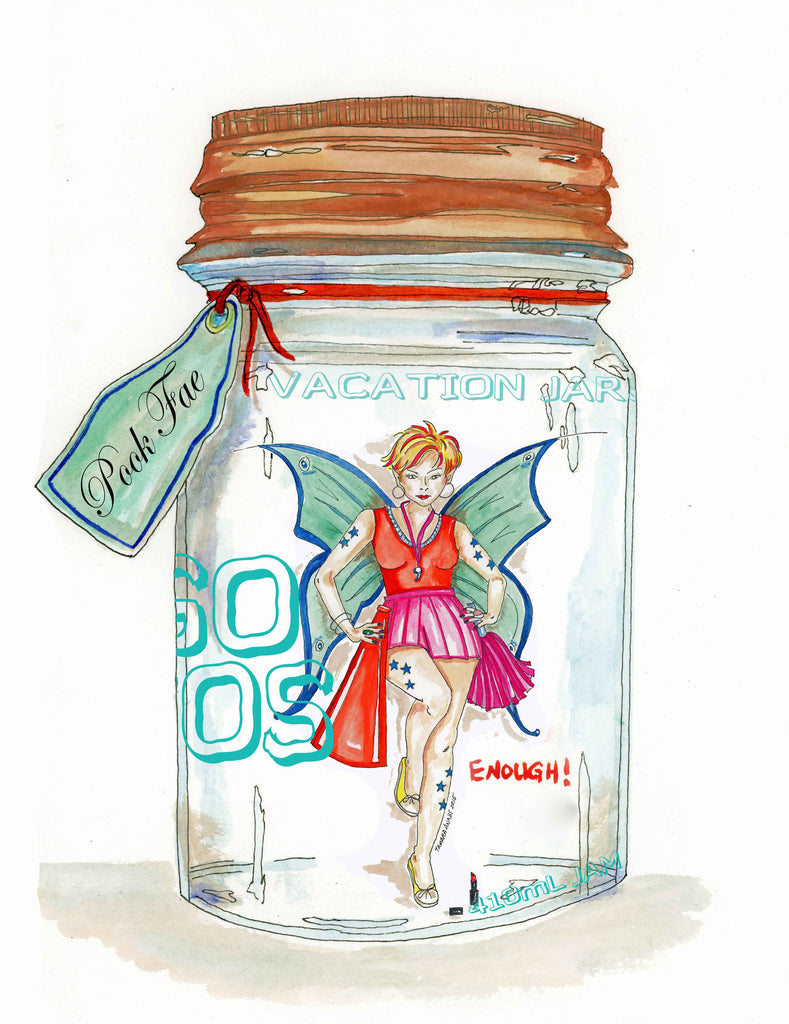 Fairy Art- Breakfast Club fairy in a jar Pook fairy