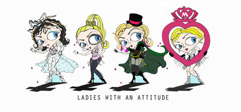 Fan Art- Madonna four different madonnas in a row, ladies with an attitude