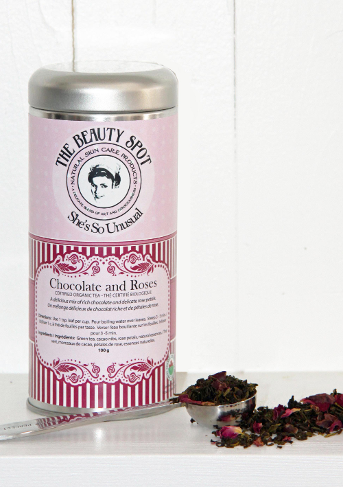 Certified Organic Tea- Chocolate and Roses flavour in a Reusable tin