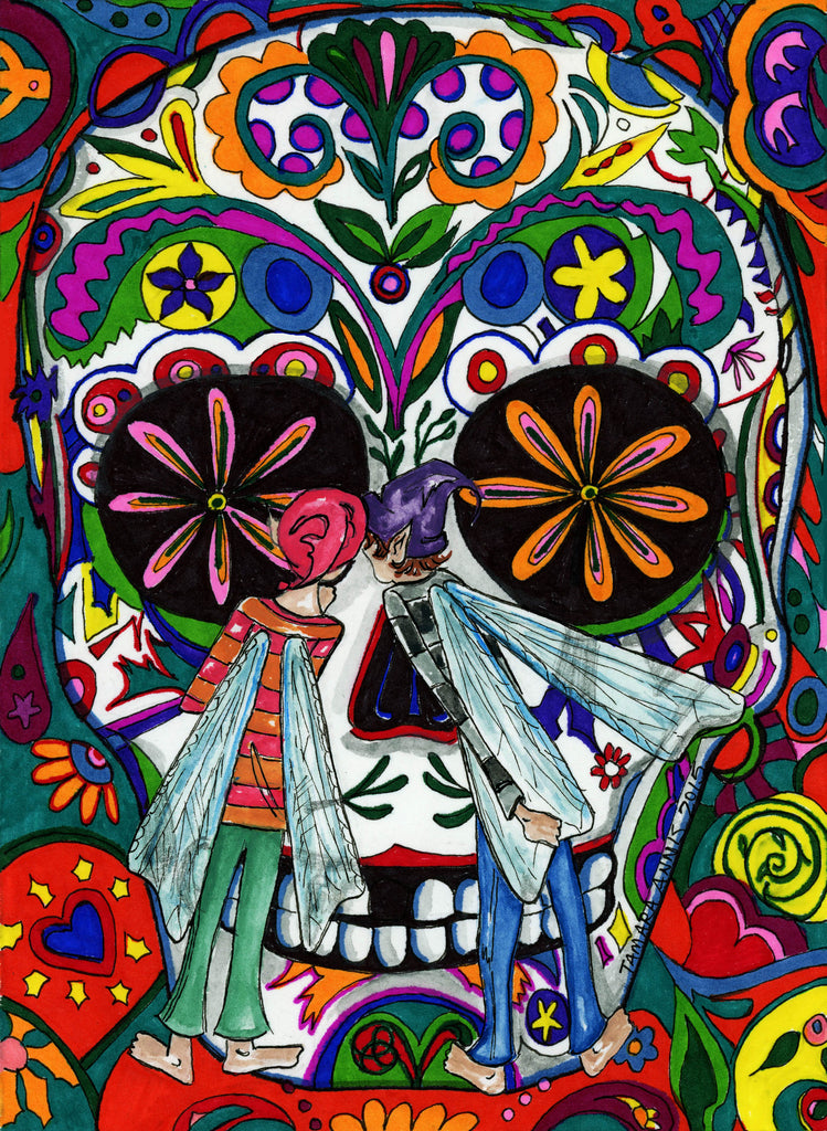 Two Fairies- Day of the Dead