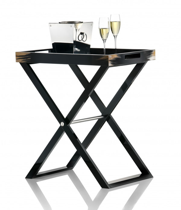 Arca Horn Butler stand tray with champagne and bucket