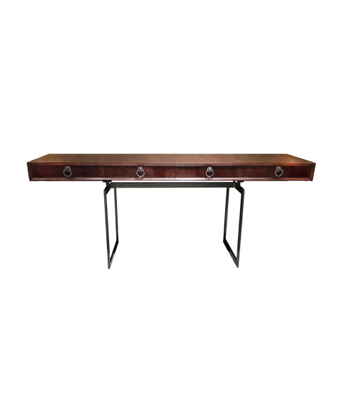 Shikari Parchment Console Table
