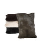 Black and White Shikari Rabbit Fur Cushion