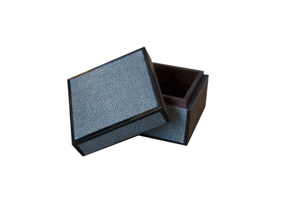 Open Real Shagreen Small Box
