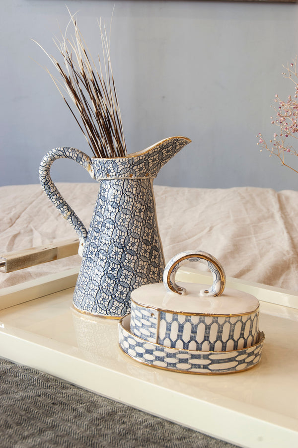 Ceramic Jug and Butter DIsh