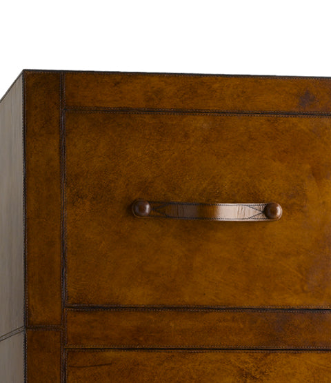 Havana Filing Cabinet, four draw close up handle detail