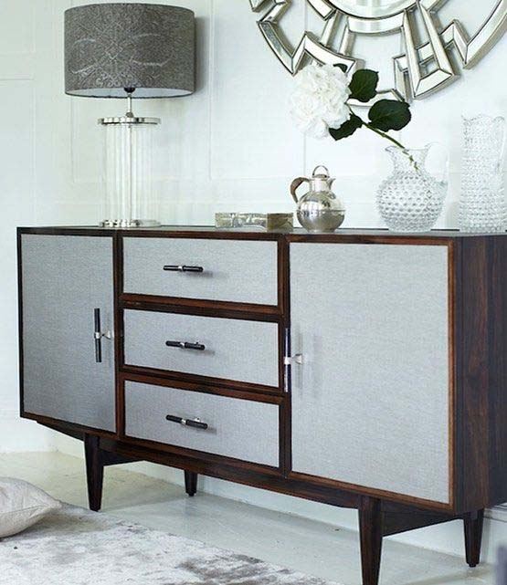 Deco Console with Bone Handles
