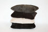 Rabit fur Cushions in stack