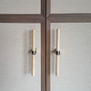 Nickle Bone Handles on cabinet front