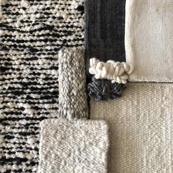 Karakul rug swatches and Texture Moodboard