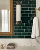 Selecta long sconce in bathroom