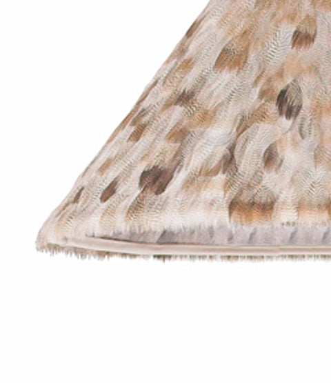 Close Up of Egyptian Goose Feather Lamp Shade