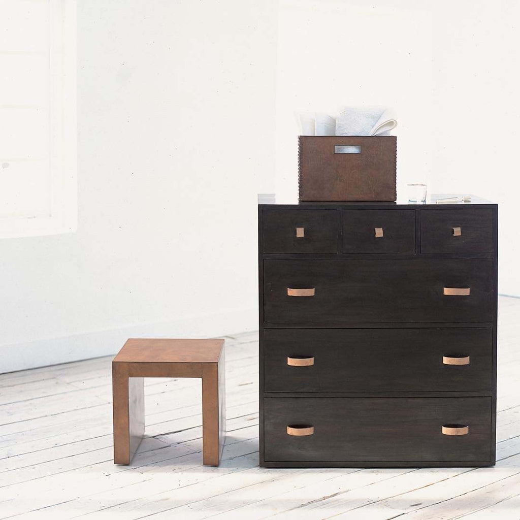 Shikari Chest of Drawers with Magazine box and stool