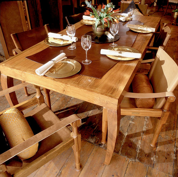 Mahoot Dining Table with Shikari Chairs and decor
