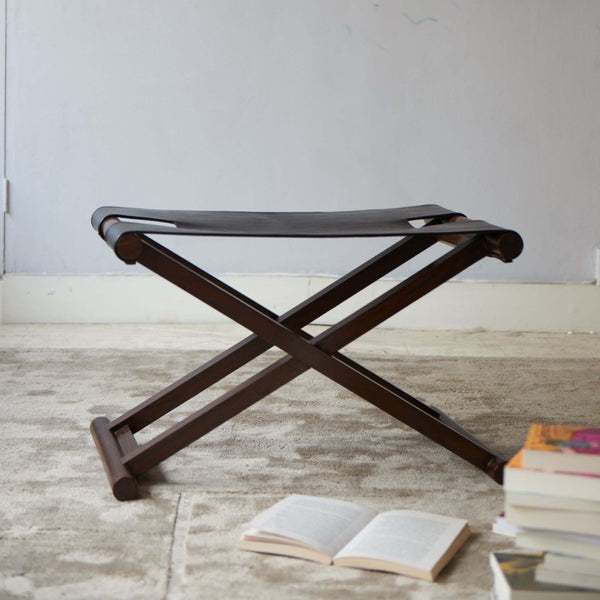 Shikari Leather stool