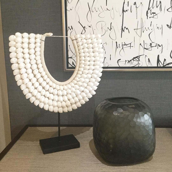 Somba Vase with White Shell Necklace
