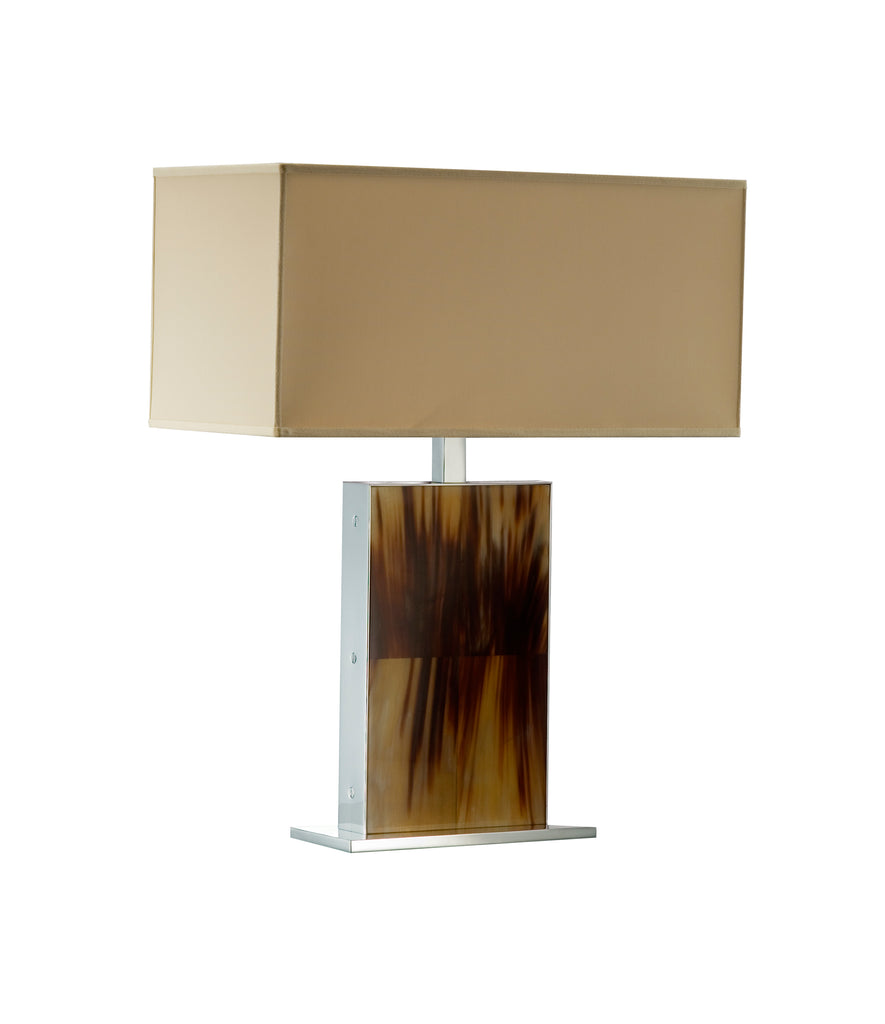 Rectangular Arca Horn Table Lamp