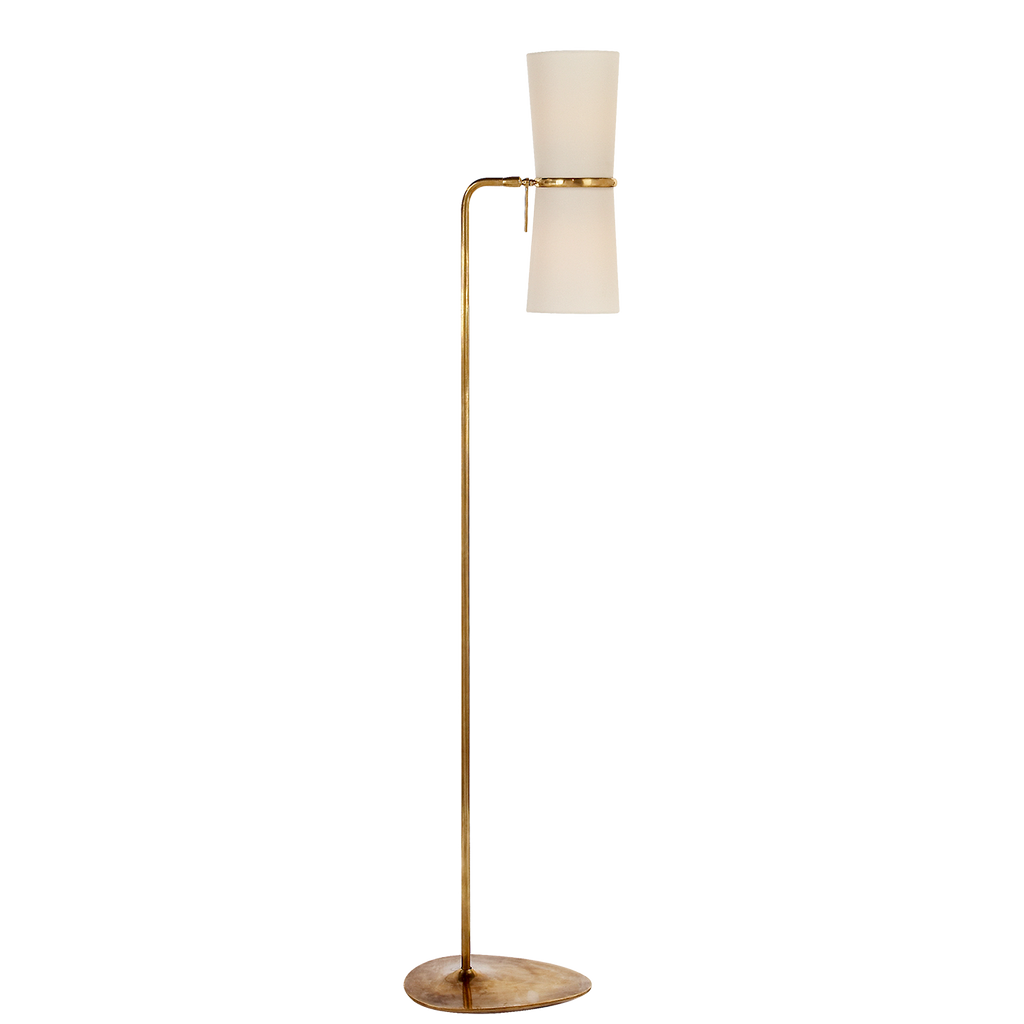 Antique Brass Clarkson Floor Lamp