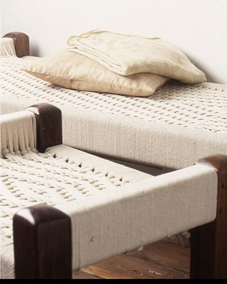 Shikari Bench Texture with stool and throw