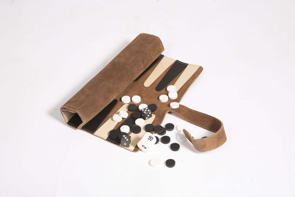 Rolled Backgammon set