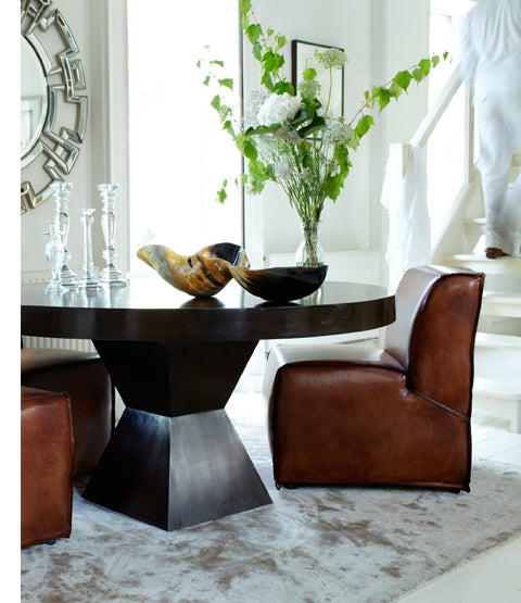 Havana Leather Club Chair in dining room context
