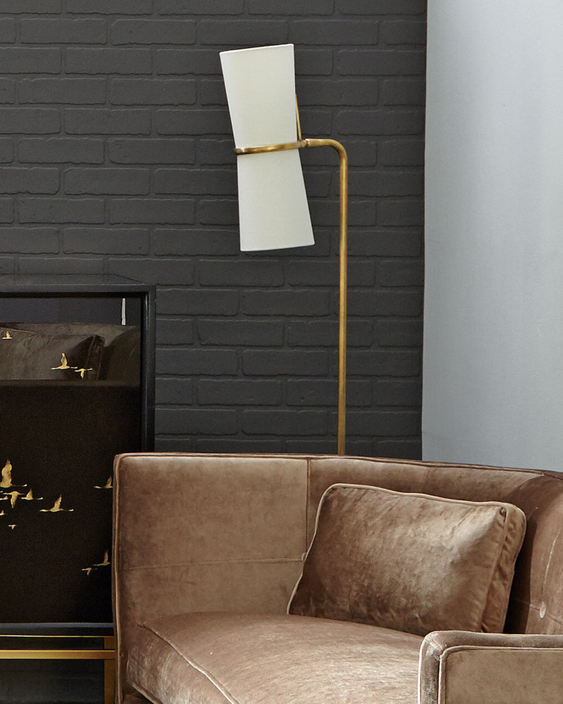 Clarkson Floor Lamp with sofa and table