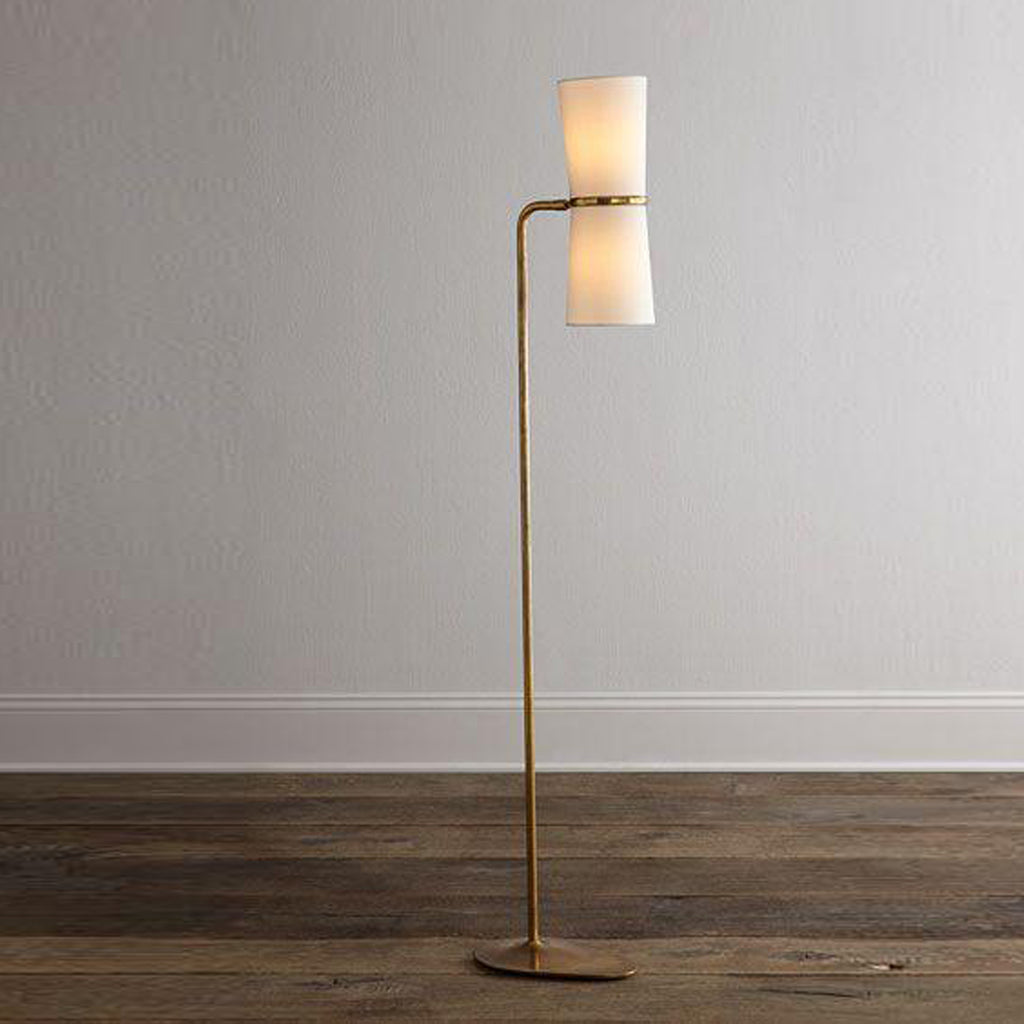 Clarkson floor lamp on wood
