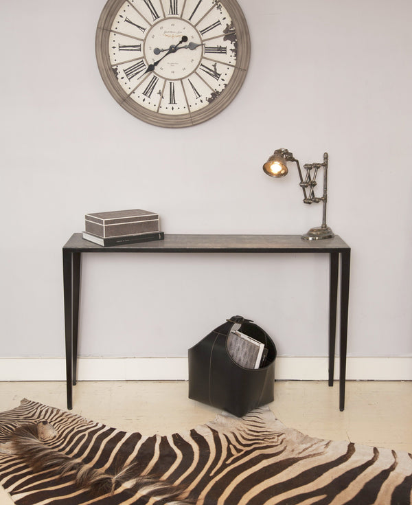 Zebra Hide Under Shagreen Console