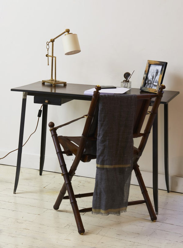 Hudson Rustic desk with chair and decor