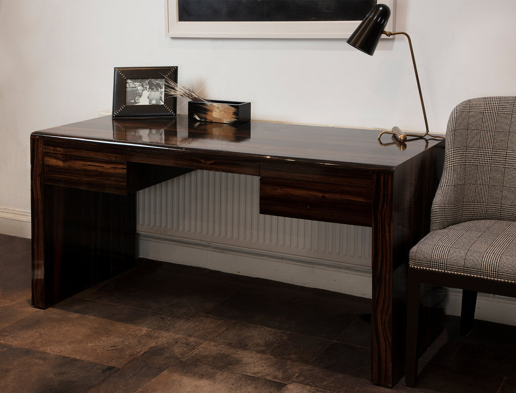 Metro Ebony desk with deco chair and accessories