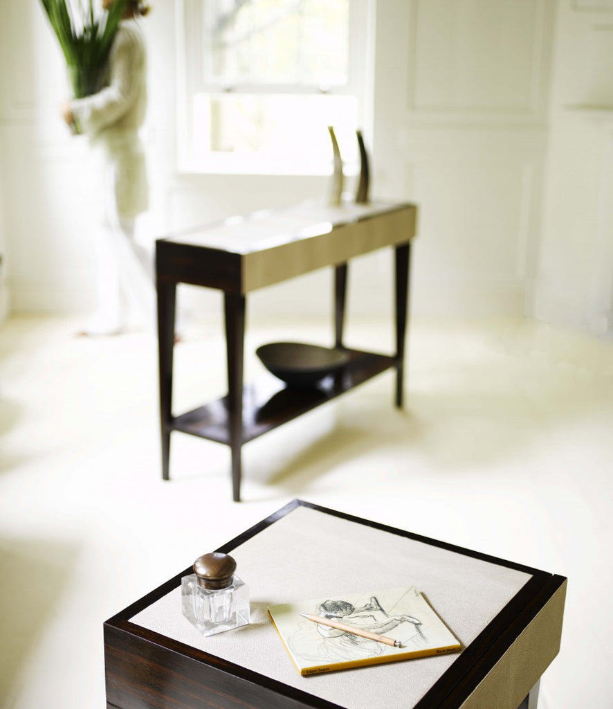 Deco Console table with ink pot and pad with table in background