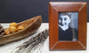 Havana Brown Leather Picture Frame With Boat Bowl