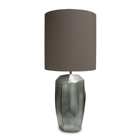 Guaxs Tall Cubistic Table Lamp Smokey Grey