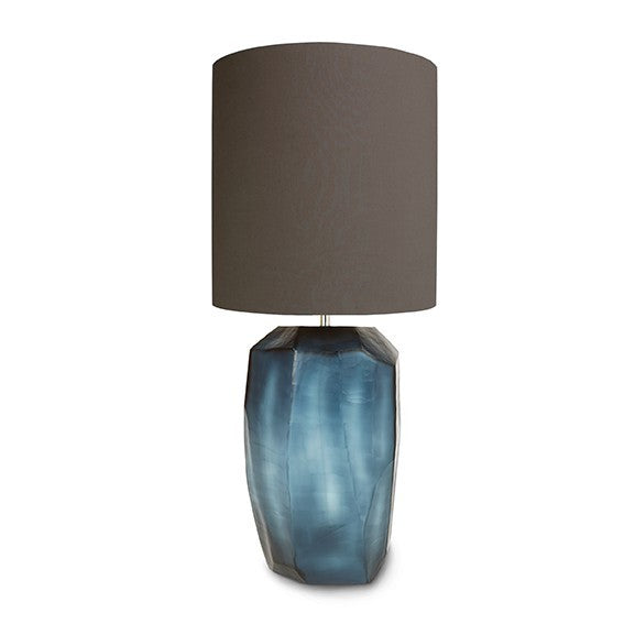 Guaxs Tall Cubistic Table Lamp Indigo
