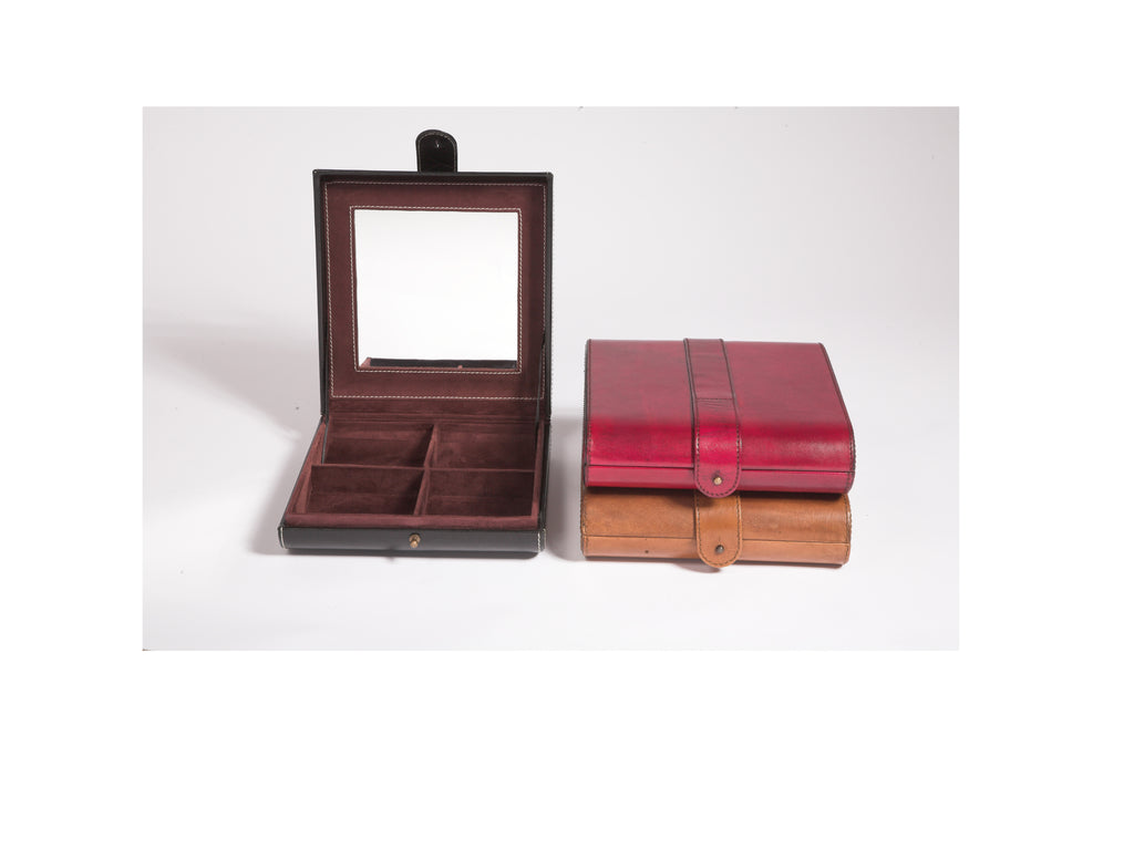 Havana Jewellery Box in black red and tan